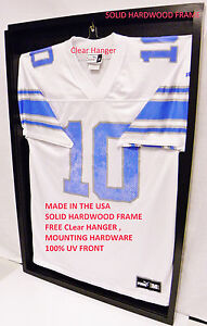 Jersey Display Case /BS Jersey Framing Free 100% UV Acrylic Free Clear Hanger