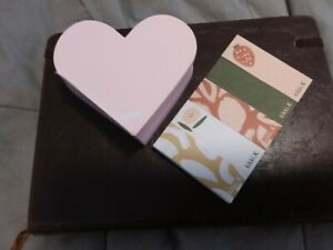 New Kikki K Heart Shaped Notepad And 5 Adhesive Labels (pack of five booklets)