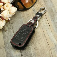 5 Buttons PU Leather Remote Key Case Cover Smart Key For Chevrolet Camaro Cruze