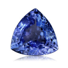 1.30 Cts Trillion Cut AAA Color 100% Natural Tanzanite Violet-Blue VS1 D'Block