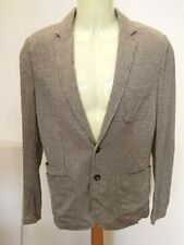 Paolo Percora Linen Blend Hound's-tooth Check Blazer Jacket Size 48