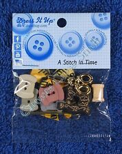 Dress It Up A Stitch in Time Novelty Buttons Reel Needle Machine Embellishments