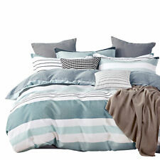NEW Gioia Casa Nathan 100% Cotton Stylish Soft Reversible Quilt Cover Set Multi