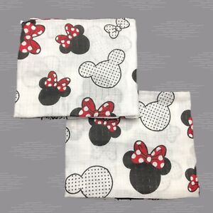 ✅ Mickey Mouse Set Of 2 Muslin Square Washable Baby Cloth Nappy Burp Bib 70x80cm