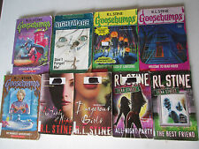 R.L. STINE LOT OF 9 PAPERBACKS GOOSEBUMPS, FEAR STREET, DANGEROUS GIRLS RL PB
