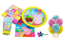 Peppa Pig Party Supplies PARTY PACK 46 Pc Genuine Licensed