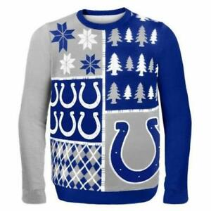 NWT Indianapolis Colts NFL Christmas Unisex Adult Ugly Sweater Size M MEDIUM NEW