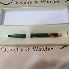 Rolex made by Caran D'Ache ball point green gold Pen New Rare