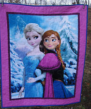 Disney Frozen Anna+Elsa Handmade Quilted Blanket or Ready To Hang  NEW
