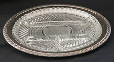 "Oneida Silverplate Relish Dish with Glass Liner Maybrook 12"" with Box #89 2700"
