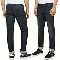 REPLAY jeans da uomo mod. DONNY slim tapared pantalone denim nero stretch MA900