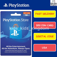 Sony US Playstation Network Playstation Store PSN USD $50 Dollar PS4 PS3