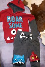 "365 Kids ""Roa 00004000 R Some"" Sweatpant/Hoodie Set Boys Size 4"