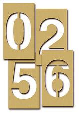 POCHOIR BRISTOL chiffres lettres lettrage découpe personnalisée 18 cm pochoirs