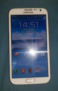 Smartphone Samsung Galaxy Note 2 GT-N7105 16Go - Blanc - Housse - 2 batteries
