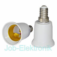 Adapter E14 auf E27 Fassung Lampensockel Sockel Leuchtmittel Konverter