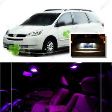 For Toyota Sienna 2004-10 Pink LED Interior Kit + Xenon White License Light LED