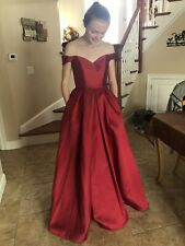 Women Red Long Ball Gown Prom Dress