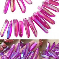Rare Natural Purple Aura Lemurian Seed Quartz Crystal Stones Point Specimen #L3