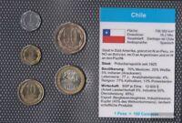 Chile 2006 Stgl./unzirkuliert Kursmünzen 2006 1 Peso bis 100 Pesos