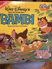 Walt Disney Bambi LP Record Album Story & Songs Disneyland 3903 12-Page Book