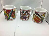 lot of 3 Holiday Splendor Riviera Van Beers Signature Housewares Christmas mugs