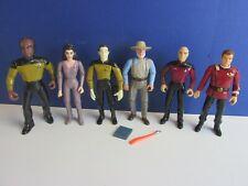 Star Trek next generation action figure Picard Data Kirk Troi Worf Playmates set
