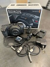 Blackmagic Design Pocket Cinema Camera 4K Camcorder -Resolve Included - Extras!