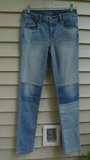 American Eagle Outfitters Patchwork Skinny Jeans SZ 0 Stretch AEO Live Your Life