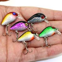 5pcs/set Spinner Lures Fishing Bass ZOC Crank Bait Tackle Hook Fishing Lu G C1Y9