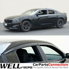 WELLvisors For 11-20 Dodge Charger Side Window Visors Rain Guards Deflectors