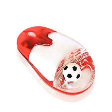 Liquid Mouse 2.4G Wireless Soccer Fan Mouse Optical Mice with USB Receiver, Gift