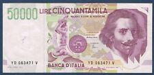 BILLET de BANQUE D'ITALIE.50000 LIRE Pick n°116.a du 25-5-1992 TTB+ YD 063471 S