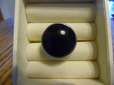 """Lia Sophia Silver with Black and Brown Stone """"Expresso"""" Ring Size 9 NEW"""