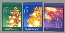 CANADA 2001 Set of Three (3) Booklets  - CHRISTMAS (F/v = $14.60) - Complete MNH