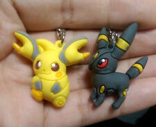 2pcs Pokemon Umbreon&Pikachu PVC Figure with Key Ring Keychain Pendant toy Gift