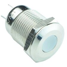 Azul Vandal RESISTENTE 12mm metal Led indicador IP65
