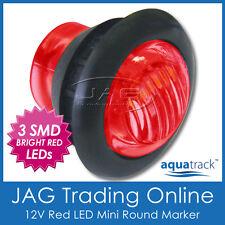 12V 3-SMD LED RED ROUND MARKER/CLEARANCE LAMP PILOT LIGHT - Trailer/Truck/Boat