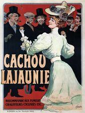 Cachou Lajaunie Vintage French Advertising Poster CANVAS PRINT 24x30 in.