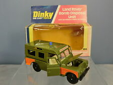 """DINKY TOYS MODEL  No.604 LAND ROVER  """"BOMB DISPOSAL UNIT""""  VN  MIB"""
