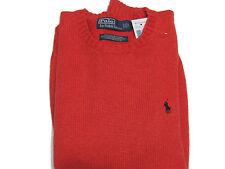 Polo Ralph Lauren Mens RL Heavy Cotton Knit Pony Logo Solid Crewneck Sweater