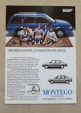 E968 - Advertising Pubblicità - 1985 - AUSTIN ROVER MONTEGO