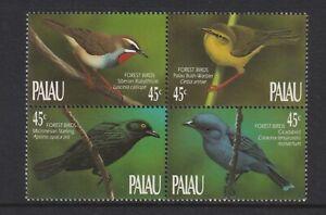Palau- 1990, Forest Birds set - Block of 4 - MNH - SG 332/5