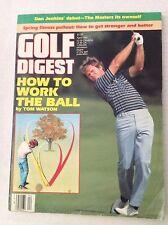 Golf Digest Magazine How To Work The Ball Tom Watson April 1985 020717RH