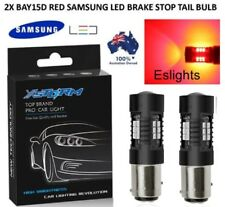 2X BAY15D 1157 SAMSUNG LED RED CAR BRAKE STOP TAIL LIGHT BULB GLOBE WATERPROOF