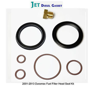 DURAMAX FUEL FILTER HEAD REBUILD SEAL KIT WITH VITON O-RINGS WITH BLEEDER SCREW