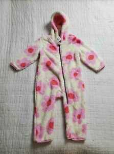 NEW GIRL'S 2T (85cm) HANNA ANDERSSON BABY MARSHMALLOW FLORAL ROMPER