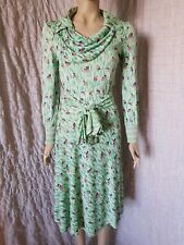 Callaghan early Gianni Versace 1970's vintage floral rayon dress, one of a kind