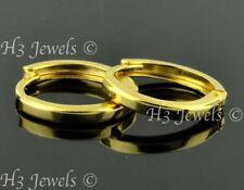 18k solid Yellow gold kids hoop plain earring earrings 1.00 gram #7920 h3jewels