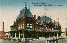 Old Postcard - Bonaventure Station - Canadian National Railways - Montreal